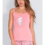 Dámské pyžamo šortky na ramínka Slon s dárkem