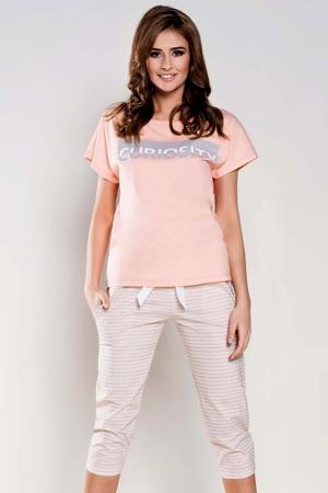 9fefb6534179 damske-pyzamo-wiktoria-salmon.jpg. Dámské pyžamo Wiktoria Italian Fashion -  z bavlny ...