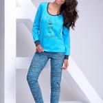 Dámské pyžamo Zuza 1022-03 blue