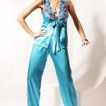 Dámské saténové pyžamo M702 – Miran