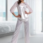 Dámské saténové pyžamo M860 – Miran