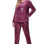 Dámské soft pyžamo Anabela fialové