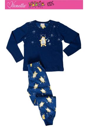 d6f426dba41c Dětské pyžamo dlouhé Méďa a měsíc