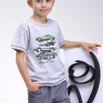 Dětské pyžamo Natan šedé