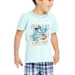 Dětské pyžamo skateboard Damián modré