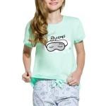 Dívčí bavlněné pyžamo Kira tyrkysové