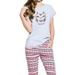 Dívčí bavlněné pyžamo Reb sovička