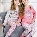 Dívčí pyžamo 1154 Elza pink