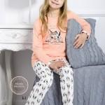 Dívčí pyžamo 690 apricot