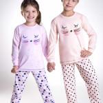 Dívčí pyžamo Ada meruňkové