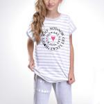 Dívčí pyžamo Amelie Lucky šedé