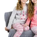 Dívčí  pyžamo Elza šedé
