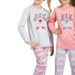 Dívčí  pyžamo Elza šedé skřítek