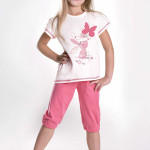 Dívčí pyžamo Kralíček s motýlkem