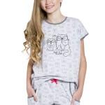 Dívčí pyžamo Rozárka šedé krátké