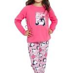Dívčí pyžamo Simon růžové dlouhé