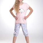 Dívčí pyžamo Tola lososové