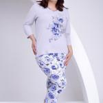 Dlouhé dámské pyžamo Felicie nadměrná velikost