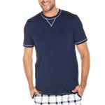 Krátké pánské pyžamo Aron tmavě modré
