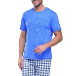 Krátké pánské pyžamo František modré