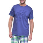 Krátké pánské pyžamo František tmavě modré