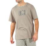 Krátké pánské pyžamo Henry hnědé