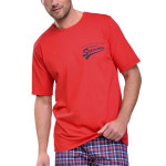 Krátké pánské pyžamo Ignac červené
