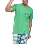 Krátké pánské pyžamo Ignac zelené
