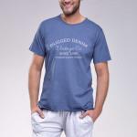 Krátké pánské pyžamo Karel modré