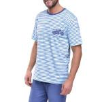 Krátké pánské pyžamo Max s motorkou modré