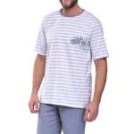 Krátké pánské pyžamo Max s motorkou šedé