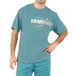 Krátké pánské pyžamo Smart olivové