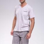 Krátké pánské pyžamo Timon mocca