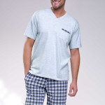 Krátké pánské pyžamo Timon olivové