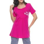 Mateřské pyžamo Gabrielle s capri kalhotami