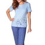 Modré bavlněné pyžamo 767 Regina