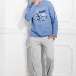 Pánské pyžamo 1007 Karol blue-grey