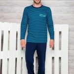 Pánské pyžamo 374 turquoise