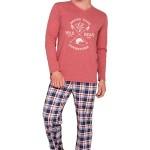 Pánské pyžamo Artur vínové dlouhé