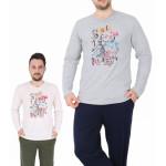 Pánské pyžamo dlouhé Cyklokros