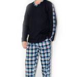 Pánské pyžamo Nelly Robin DL – granat