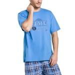 Pánské pyžamo Nick modré krátké
