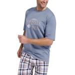 Pánské pyžamo Nick šedé krátké