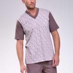 Pánské pyžamo Roman hnědé véčko
