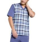 Pánské pyžamo Roman modré krátké nadměrná velikost