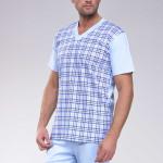 Pánské pyžamo Roman světle modré nadmerná velikost
