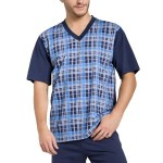 Pánské pyžamo Roman tmavě modré krátké