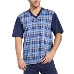 Pánské pyžamo Roman tmavě modré krátké nadměrná velikost