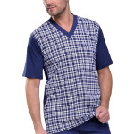 Pánské pyžamo Roman tmavě modré nadmerná velikost