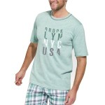 Pánské pyžamo Šimon zelené krátké